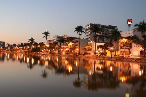 Sete Lagoas, Minas, Body Of Water, Trip, City, Sunset