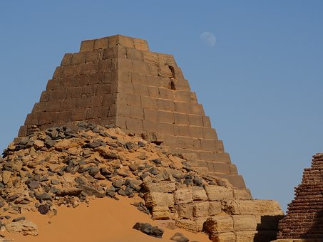 Khartoum, Meroe, Pyramid, Old, Archaeology, Trip