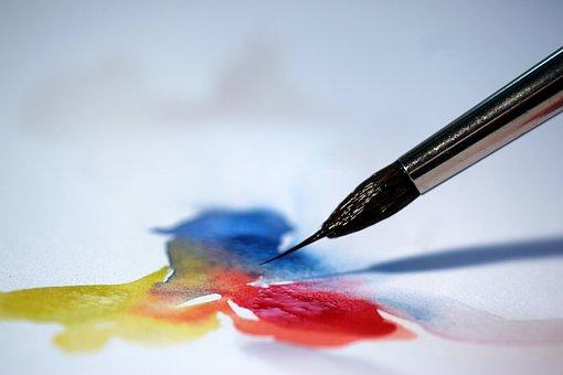 Brush, Watercolour, Color, Close, Art, Watercolor