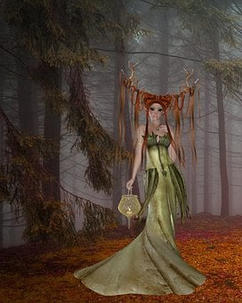 Art, Woman, Wicca, Wiccan, Fairy, Woodland, Forest