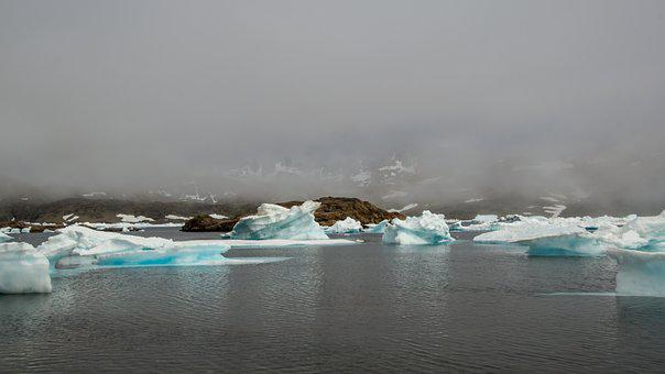 Drift Ice, Frozen, Mountain, Sea, Wilderness, Ice