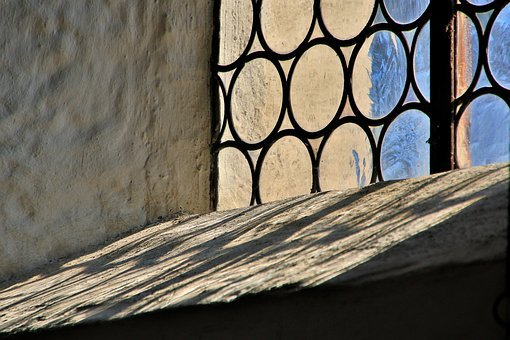 Church, Window, Wall, Historicized, Glass Window