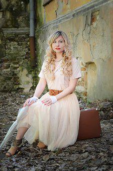 Woman, Dress, Fashion, Portrait, Girl, Curls, Blonde