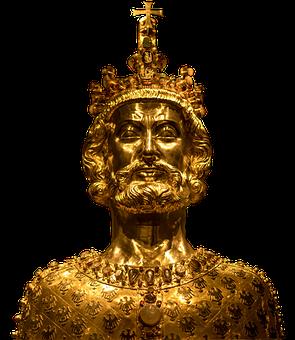 Bust Of Karl, Sculpture, Golden, Statue, Art, Antiquity