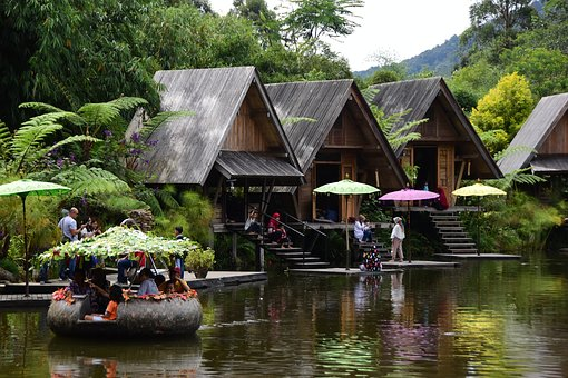 Pond, Travel, Bamboo, Lake, Traditional
