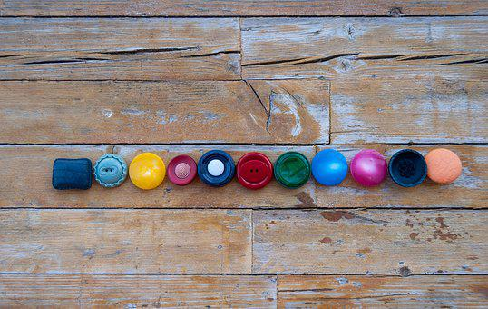 Buttons, Row, Colors, Retro, Sewing, Forms