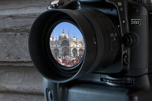 Camera, Lens Flare, Reflection, Lens, Shutter