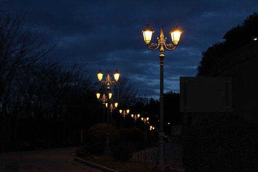 Light, Illuminated, Lantern, Dark, Street Lights