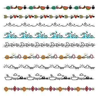Decoration, Element, Style, Pattern, Retro, Set, Lace