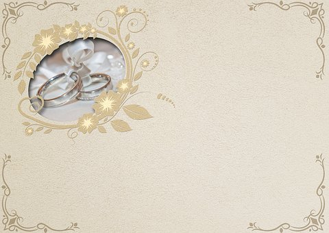 Wedding Rings, Wedding, Embossing, Background Image