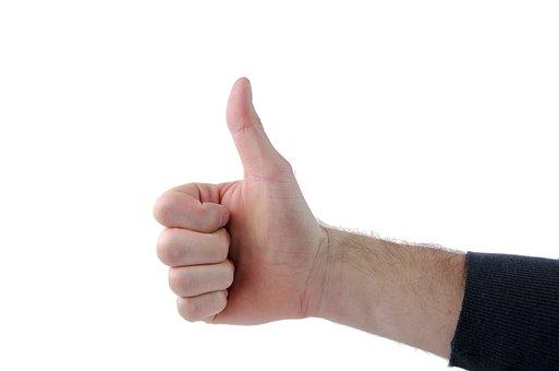 Hand, Gesture, Wrist, Faust, Feedback, Thumbs Up