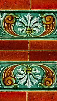 Tile, Wall Tile, Jugendstil, Art Nouveau, Ceramic