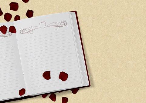 Book, Rose Flower, Wedding, Love, Valentine's Day