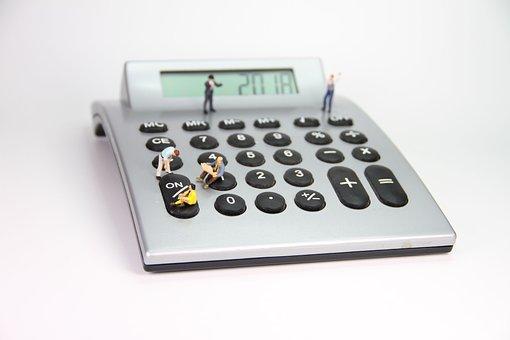 Calculator, Number, Miniature Figures, Company