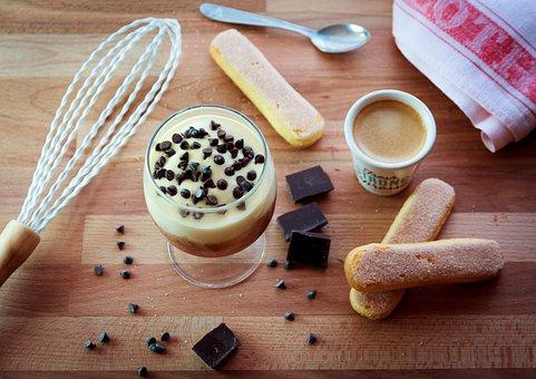 Food, Wood, Of Wood, Spoon, Tiramisu, Cream, Mascarpone
