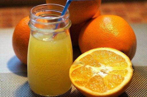 Orange, Orange Juice, Fresh, Squeezed, Juice, The Flesh