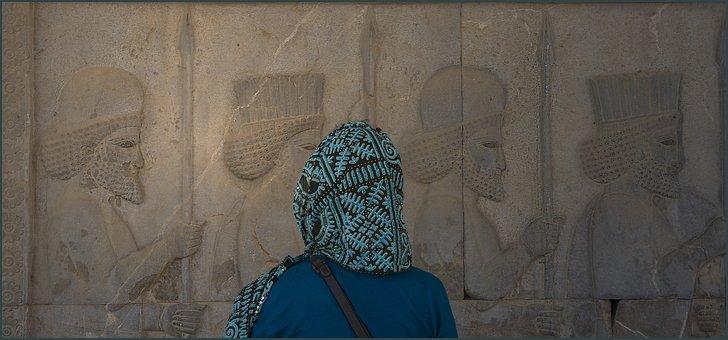 Iran, Persepolis, Woman, Ancient Times, Tourism, People