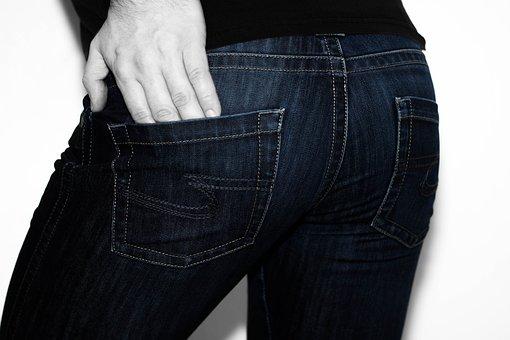 Jeans, Pants, Man, Clothing, Denim, Fashion, Po, Butt