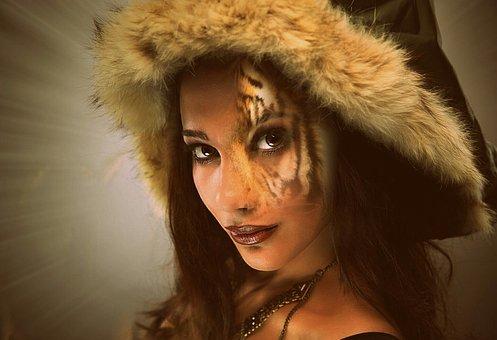 Portrait, Fashion, Woman, Human, Model, Fur, Young