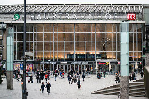 Railway Station, Cologne, Concourse, Travel, Holiday