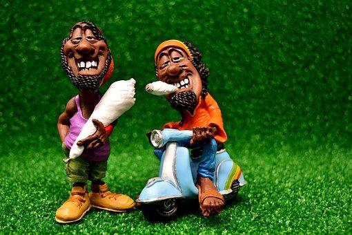 Rastaman, Stoner, Bag, Joint, Figure, Funny, Smoke Pot