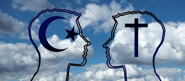 Islam, Christianity, Religion, Cross, Crescent, Star