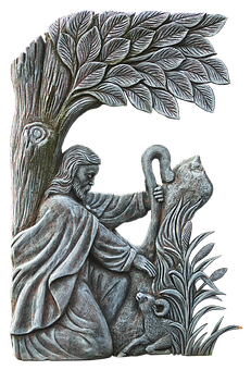 Figure, Shepherd, Grabschmuck, Religion, Religious