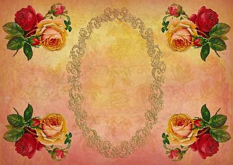 Greeting Card, Stationery, Rose Flower, Nostalgic