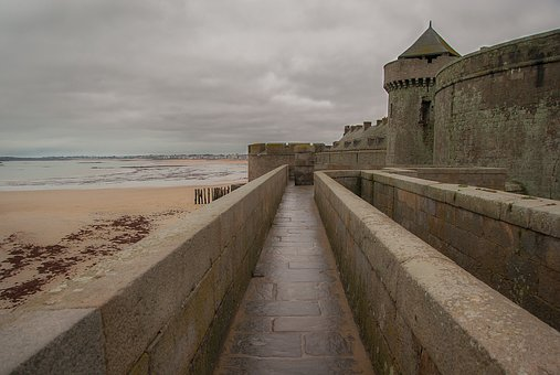 Brittany, Saint Malo, Ramparts, Wall, Fortifications