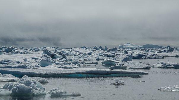 Drift Ice, Iceberg, Frozen, Sea, White, Endless