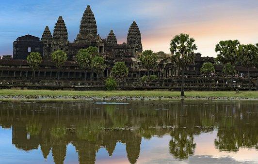 Cambodia, Antenna Beveled, Siem Reap, Palm Leaves