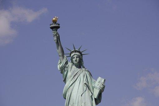 Statue, Sky, Sculpture, Travel, Usa, Statue Of Liberty