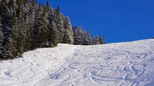 Snow, Winter, Cold, Mountain, Nature, Sky, Schönwetter