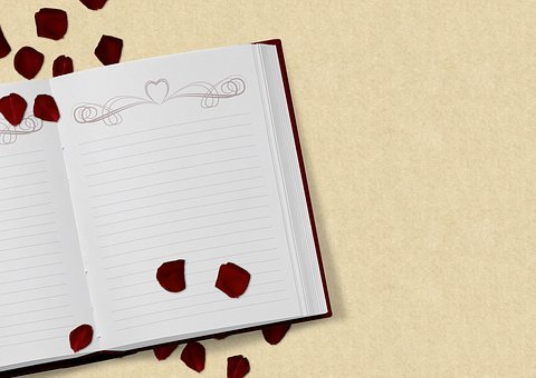 Book, Rose Flower, Wedding, Love, Invitation