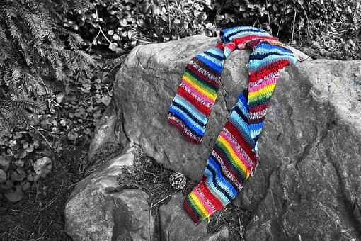 Scarf, Wool, Woolen Scarf, Knitwear, Clothing