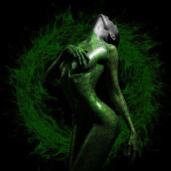 Art, Naked, Sculpture, Reptile, Science, Monster, A