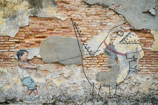Stone, Brick, Old, Wall, Graffiti, Art, Artist, Paint