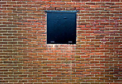 Wall, Brick Wall, Red Brick Wall, Window, Blocked