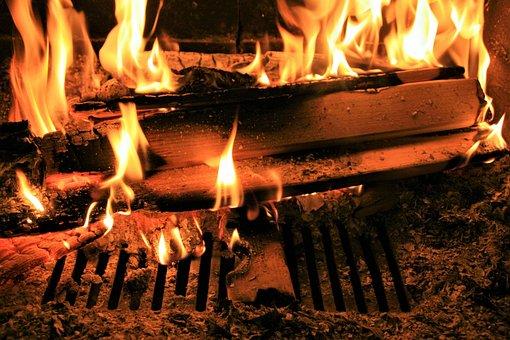 Flame, Heat, Burn, Fireplace, Hot, Firewood, Light