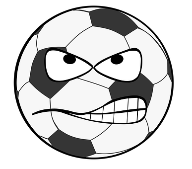 Football, Clip Art, Smiley, Evil, Flank, Shot, Goal