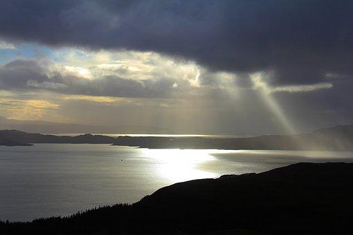 Sun Glare, Sun, Beautiful, Amazing, Cloud, Water