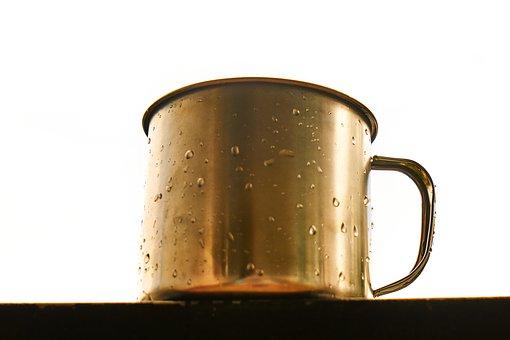 Glass, Cup, Wet, Drop, Macro, Beverage, Coffee, Morning
