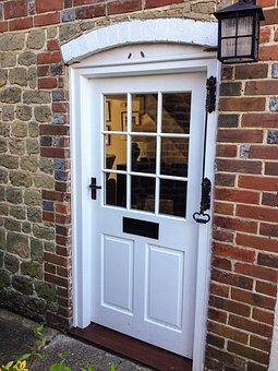 House, Door, Architecture, Window, Brick, Doorway