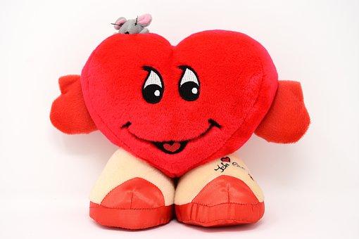 Love, Heart, Funny, Valentine's Day, Fabric, Plush