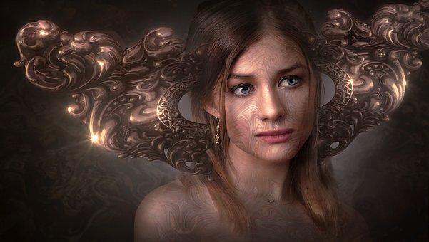 Fantasy, Portrait, Face, Girl, Fairytale, Person