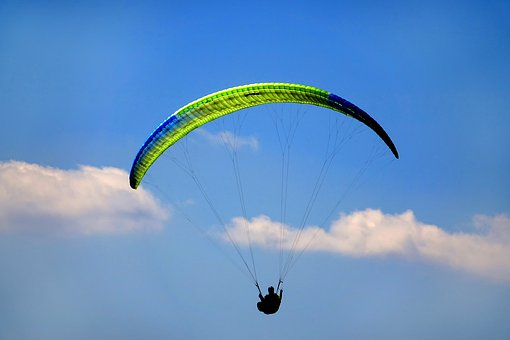 Sky, Parachute, Fly, Flight, Air, Paragliding, Glide