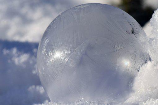 Soap Bubble, Frosted, Bubble, Cold, Structure, Texture