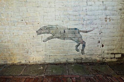 Wall, Graffiti, Street Art, Paint, Spray, Picture, Dog