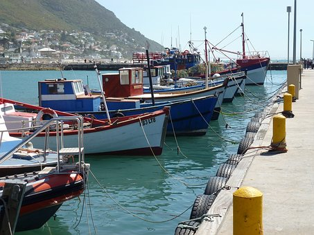 Harbour, Fishing Boats, Pier, Kalk Bay, South Africa