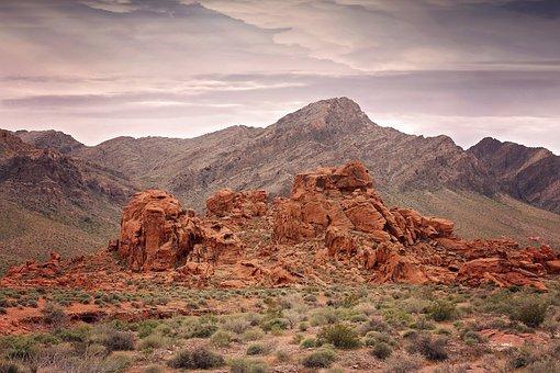 Hiking, Red Rocks, Valley Of Fire, Lake Mead, Las Vegas